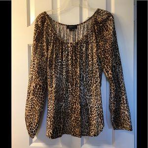 Karen Kane leopard print blouse